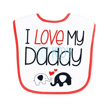 Waterproof I LOVE DADDY bib