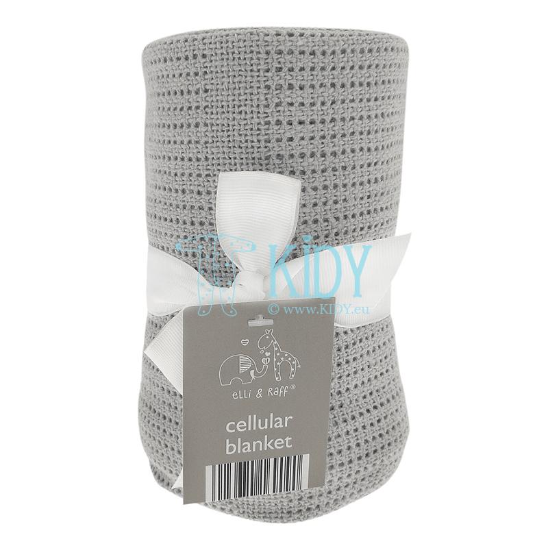 Grey cellular knitted plaid ELLI & RAFF