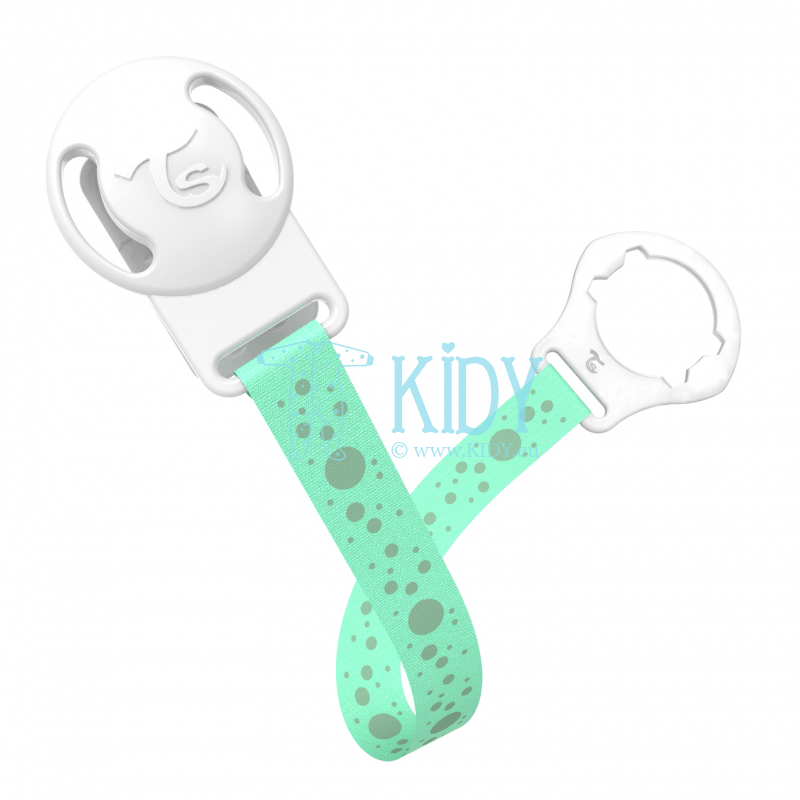 MINT GREEN BUBBLES pacifier clip