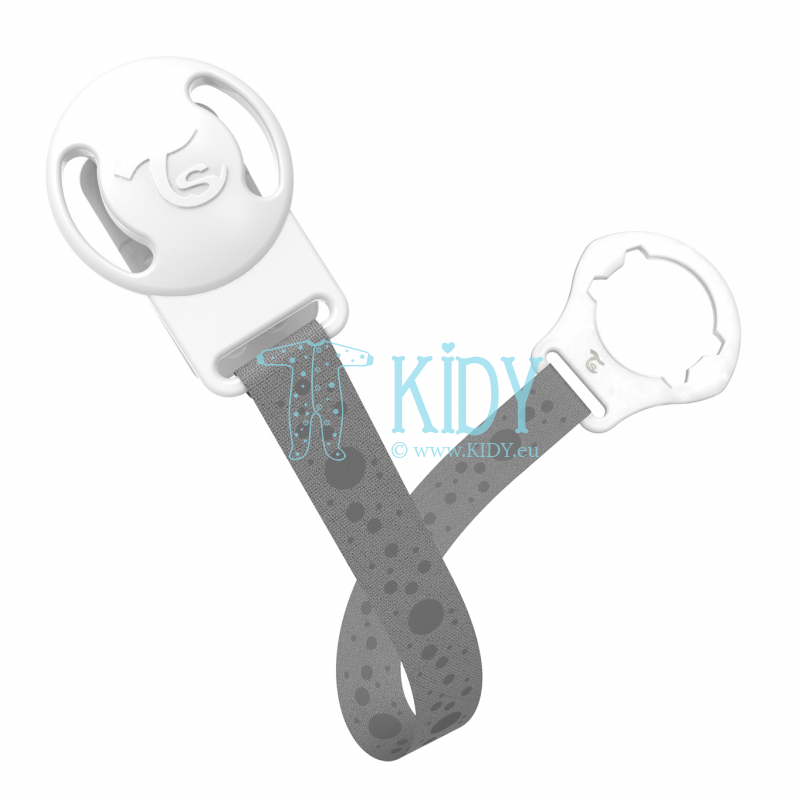 Grey BUBBLES pacifier clip