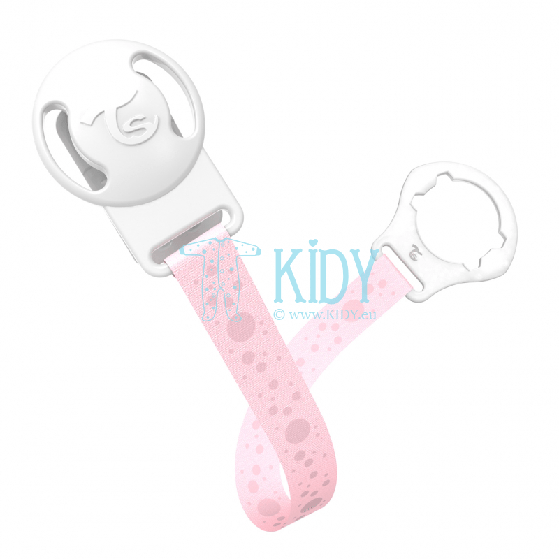 LIGHT PINK BUBBLES pacifier clip