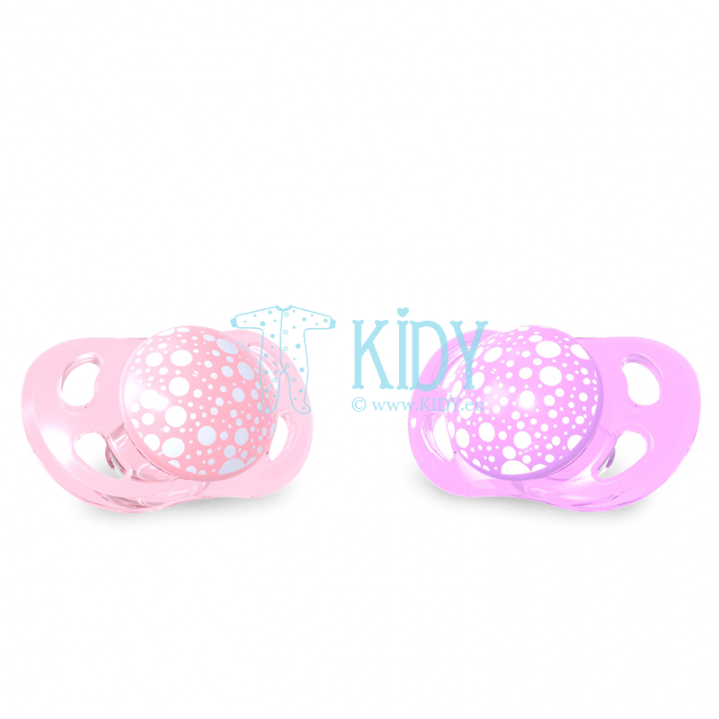 Pink and purple BUBBLES pacifiers