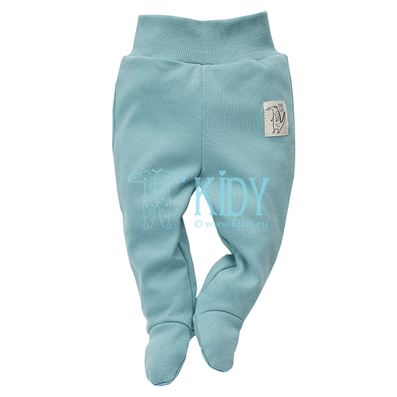 Turquoise LEON footed pants