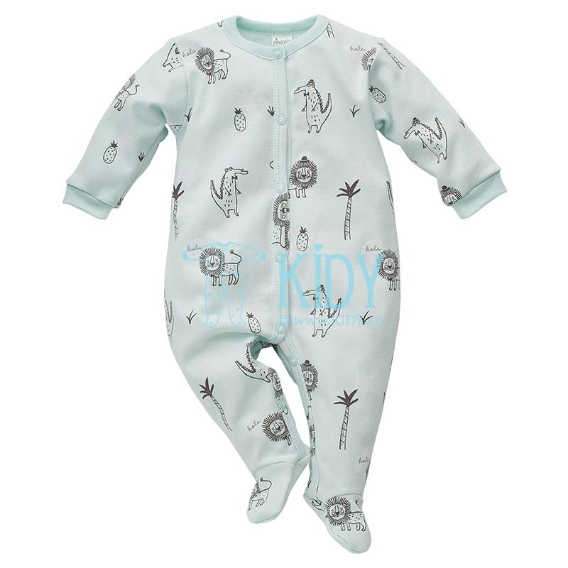 Turquoise LEON sleepsuit