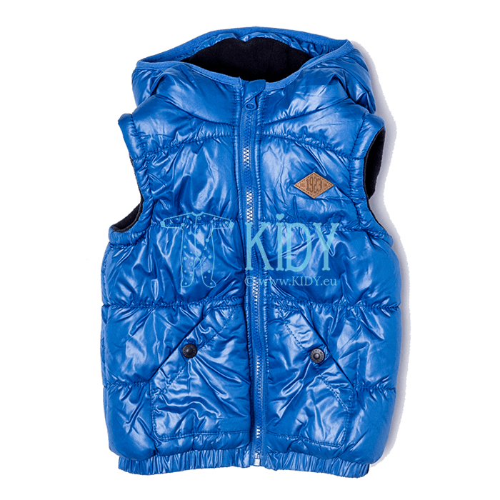 Blue hooded BAY gilet