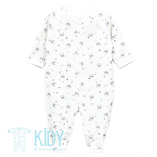 Baltas kombinezonas-pižama CUTE