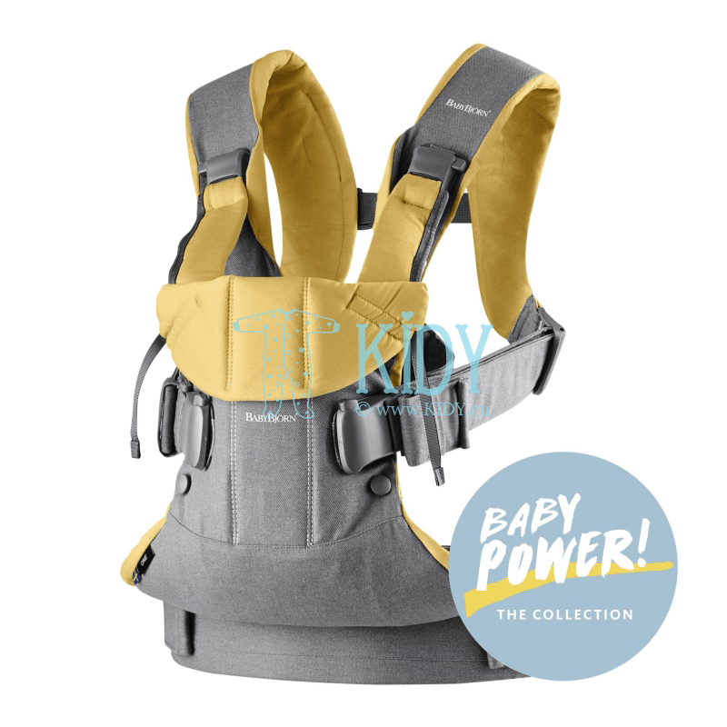Baby carrier One Grey/Yellow Cotton Mix