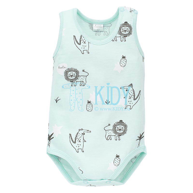 Turquose LEON sleeveless bodysuit