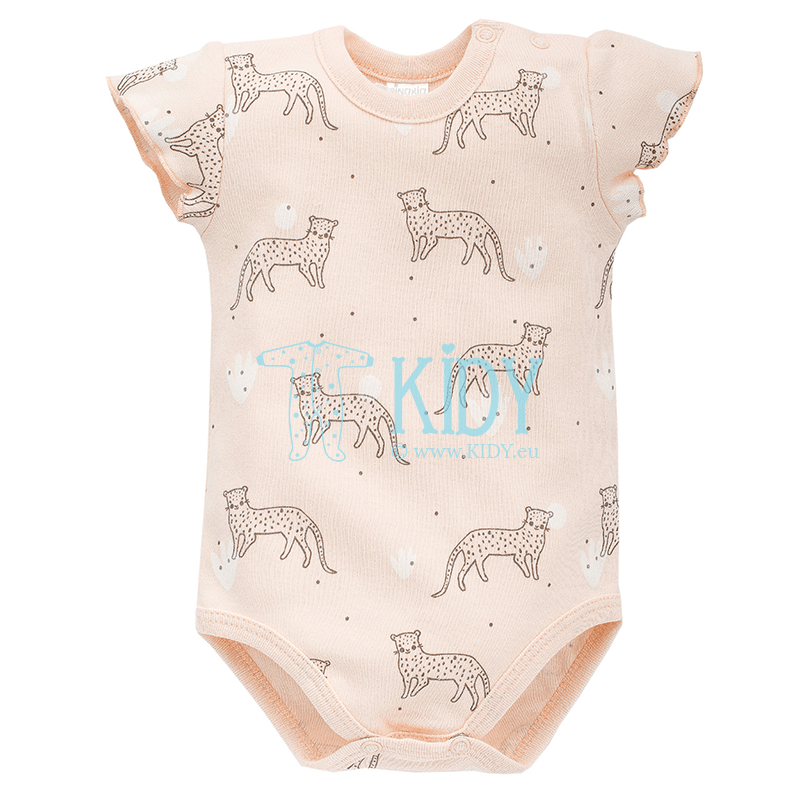 Pink SWEET PANTHER shortsleeved bodysuit