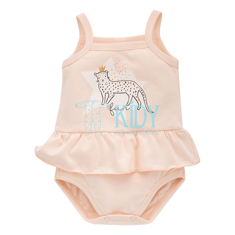 Pink SWEET PANTHER sleeveless tutu bodysuit