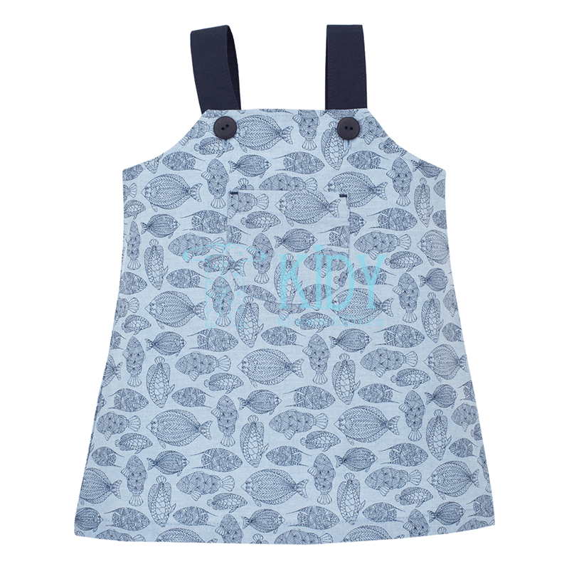 Blue LITTLE FISH sun-dress
