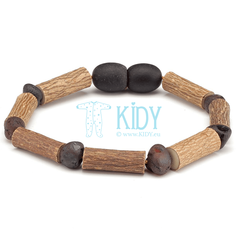 Amber BLACK teething bracelet (Baltic Amber)