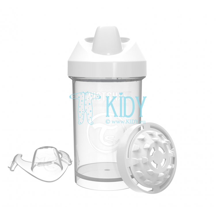 White SIPPY CUP CRAWLER
