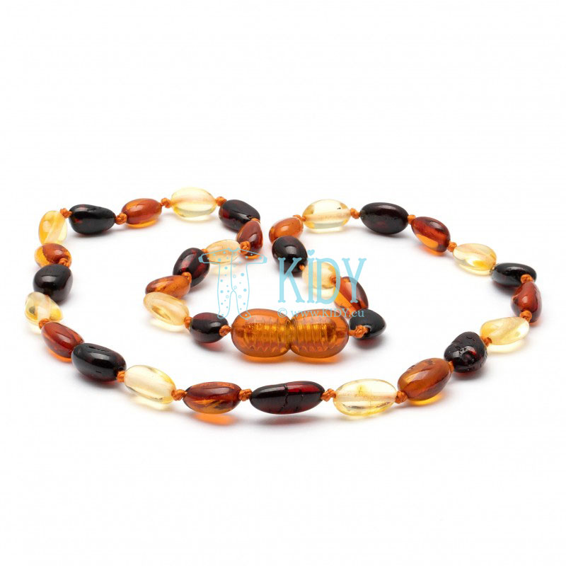 Amber MULTI teething necklace