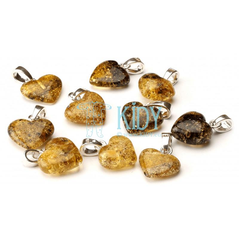 Amber GREEN pendant