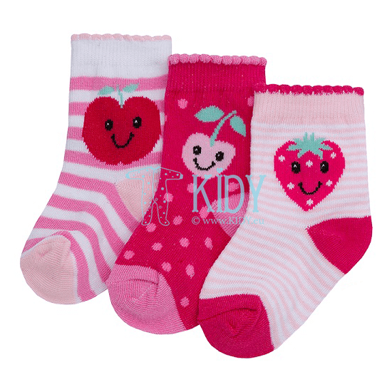 BERRIES socks set: 3 pairs