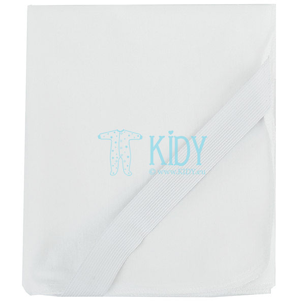 White waterproof fitted sheet