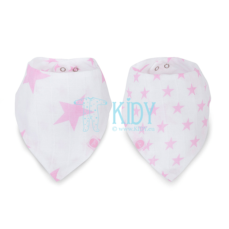 Pink LITTLE STAR set: 2 bandana bibs (Jollein)