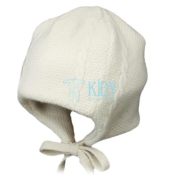 Ekru merino vilnos kepurė PICCOLO (Lorita)