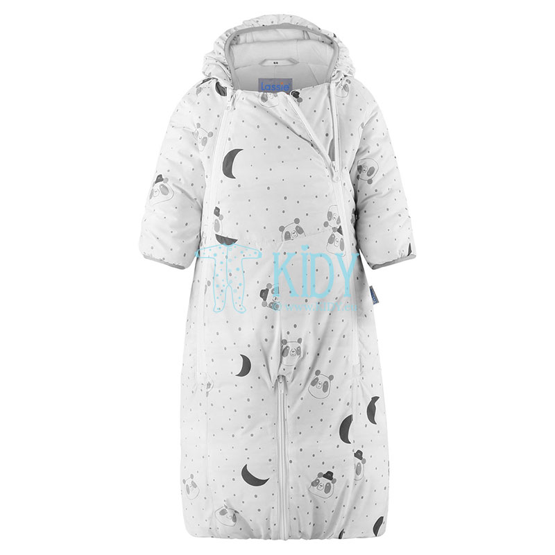 White STAAVA 2 in 1 snowsuit with mitts