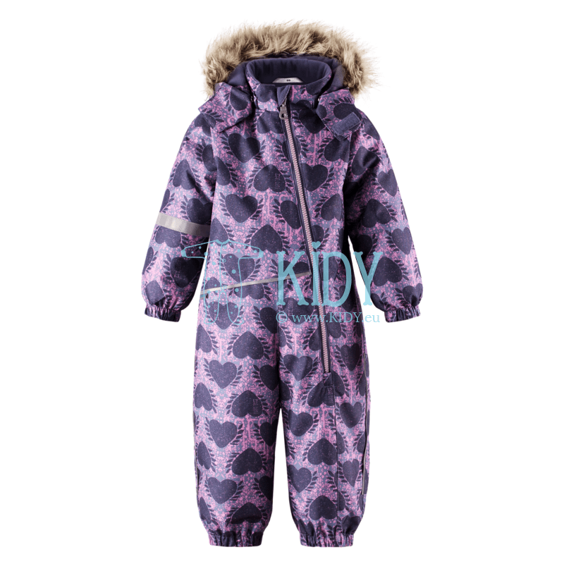 Purple HEARTS snowsuit