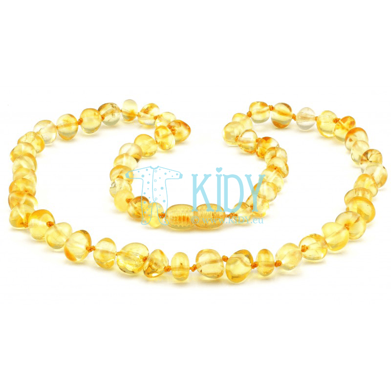 Amber LEMON necklace (Baltic Amber)