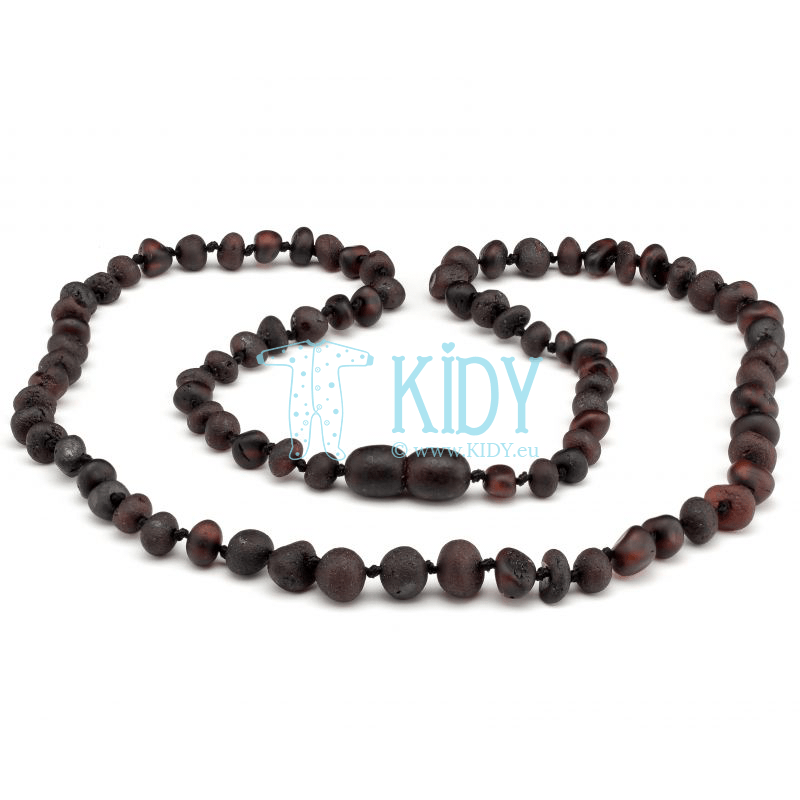 Amber BLACK necklace