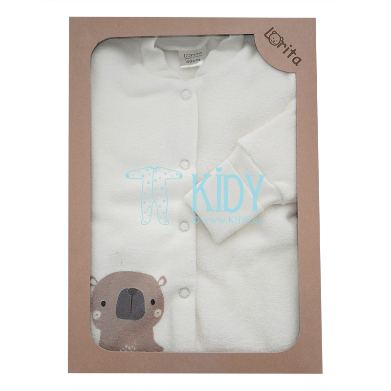3pcs BARNI set: sleepsuit + easy-shirt + cap