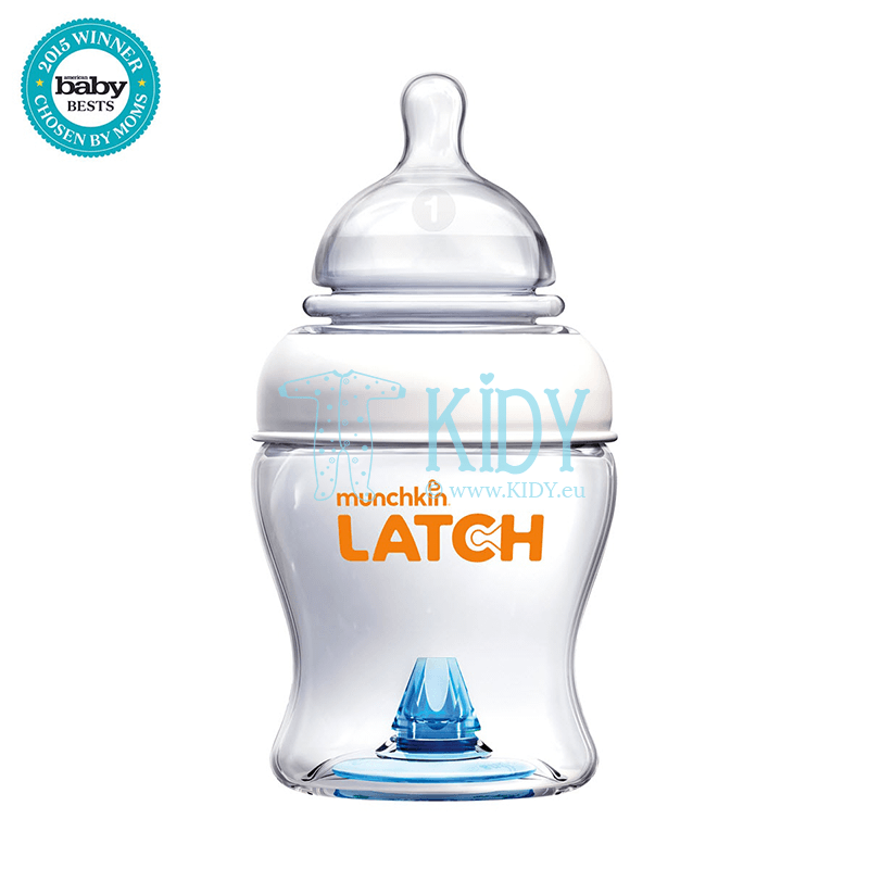 Anti-colic LATCH feeding bottle