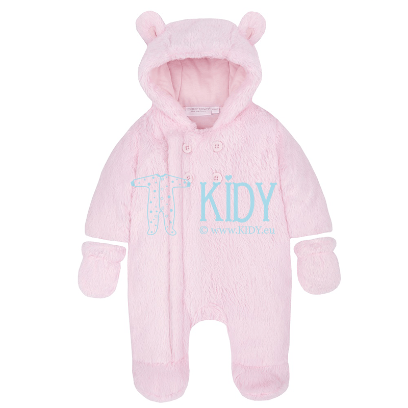 Pink BEAR snowsuit