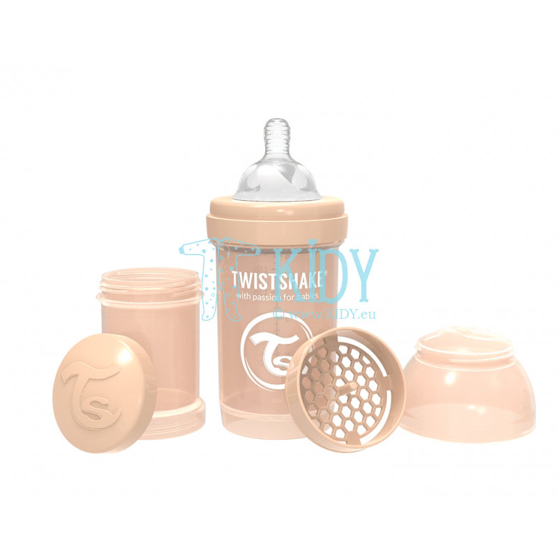 Beige ANTI-COLIC feeding bottle