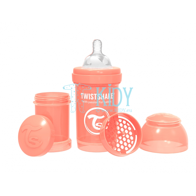 Orange ANTI-COLIC feeding bottle