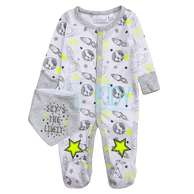 White SPACE sleepsuit