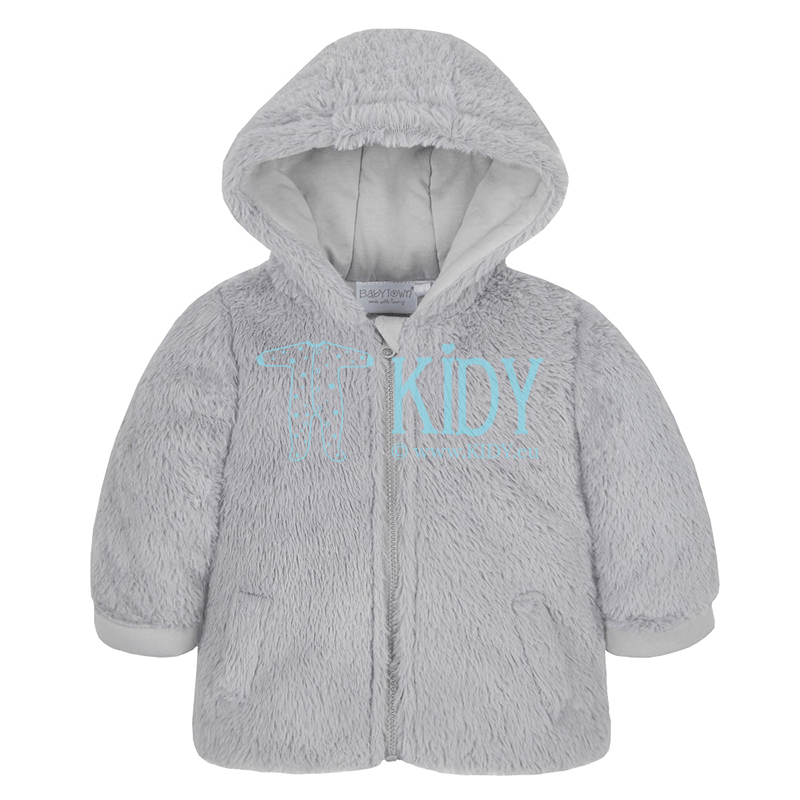 Grey hooded coat (Baby Town)