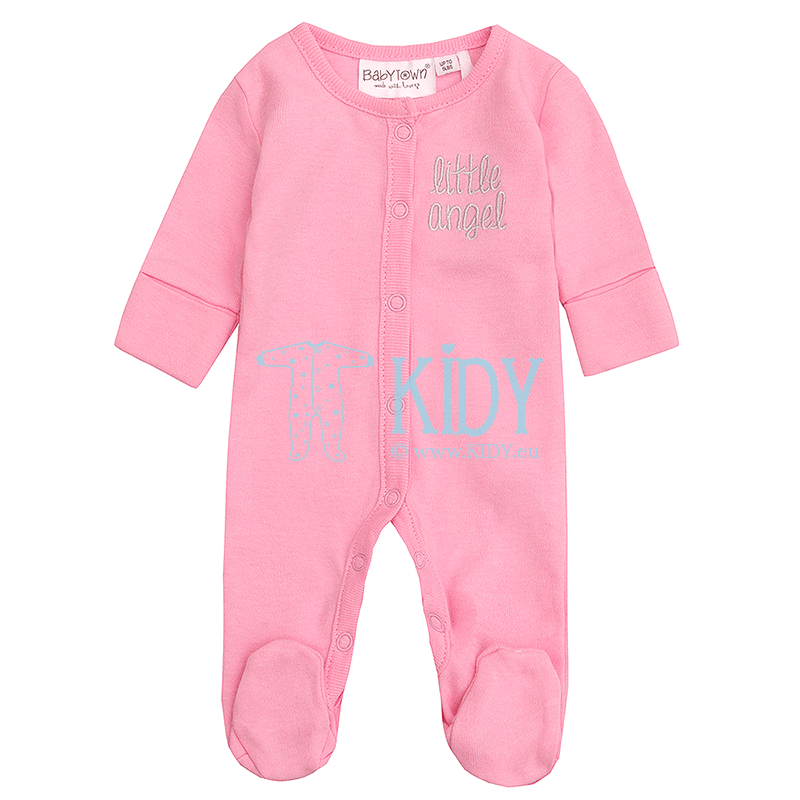Pink ANGEL sleepsuit