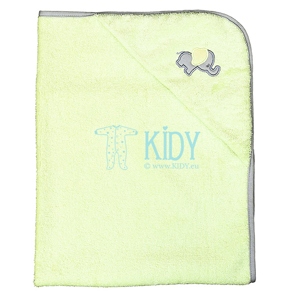 Green ELLIE hooded towel