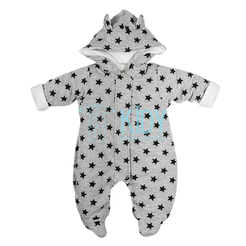 Grey ARTEX snowsuit with stars