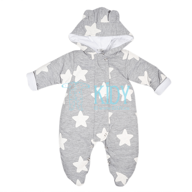 Grey ARTEX snowsuit with white stars