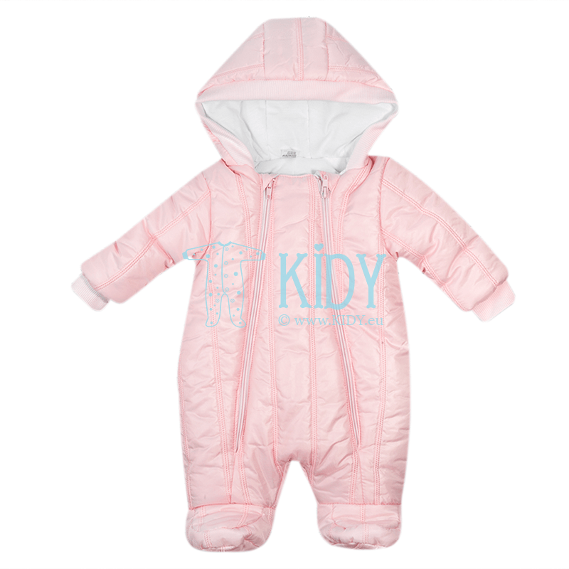 Pink quilted ARTEX snowsuit