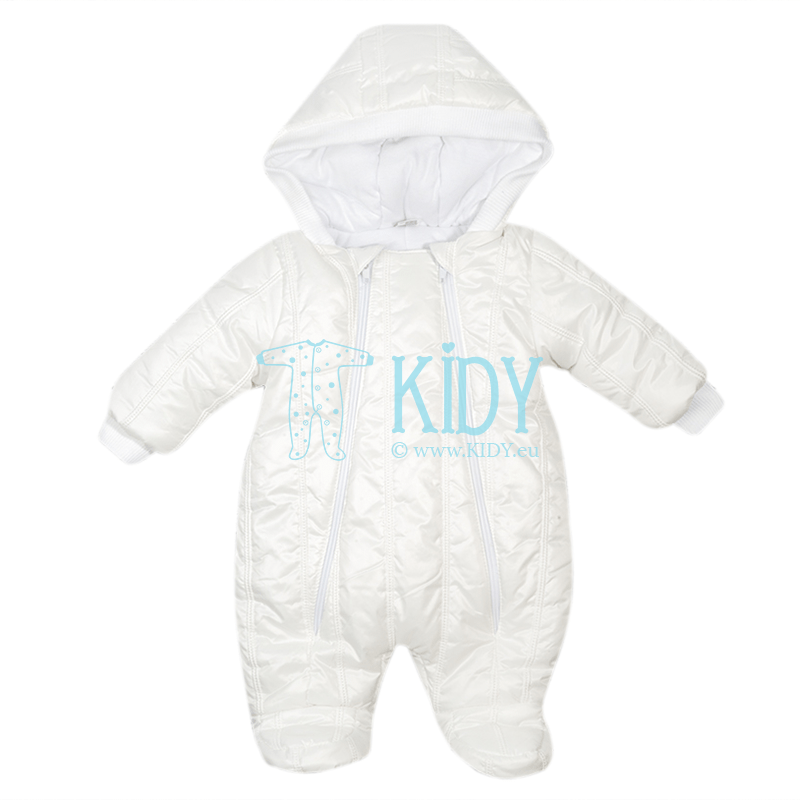 White quilted ARTEX snowsuit