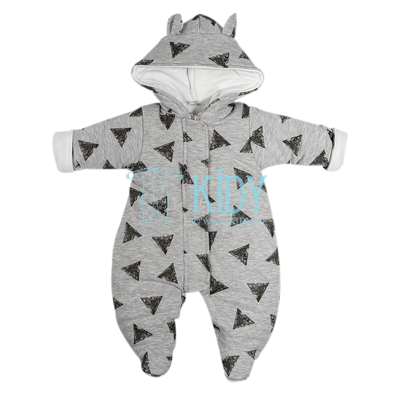 Grey ARTEX snowsuit with triangles