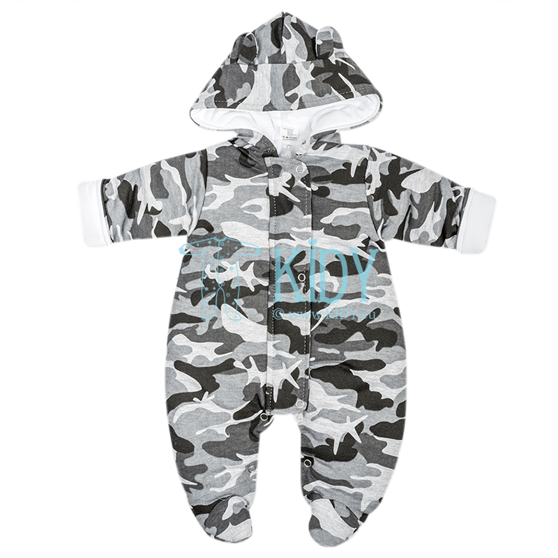 Grey camouflage-painted ARTEX snowsuit