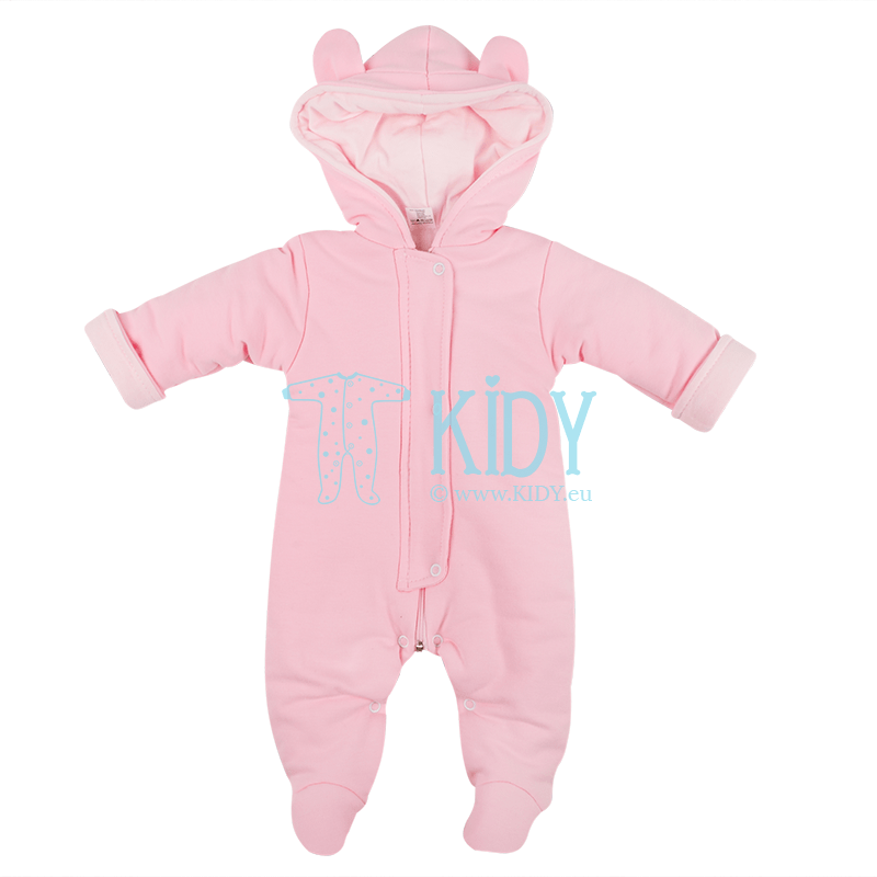 Pink ARTEX baby snowsuit