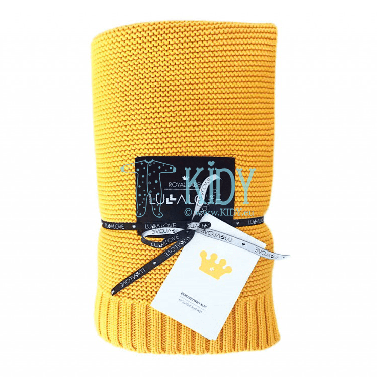 Mustard ROYAL LABEL knitted plaid