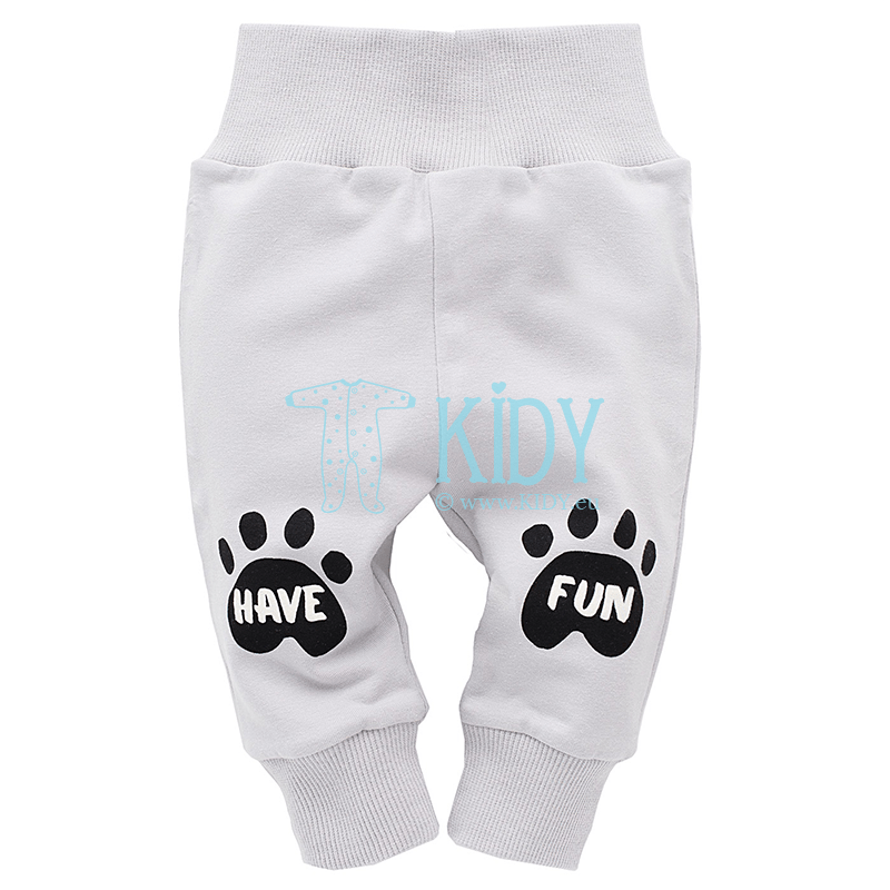 Grey FUNNY DOG pants
