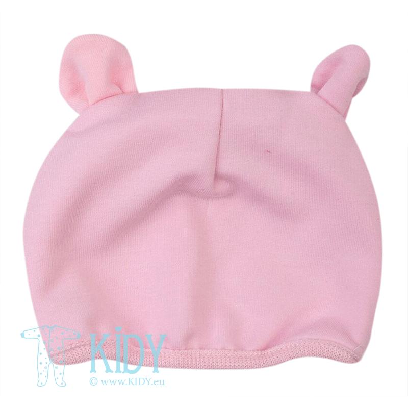 Rožinis kepurytė EARS