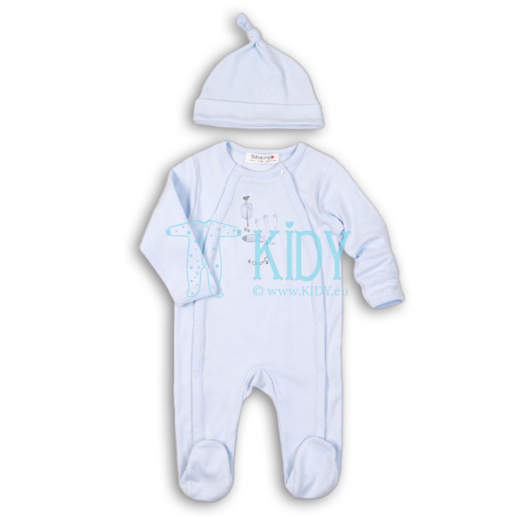 Blue FISHING sleepsuit with hat