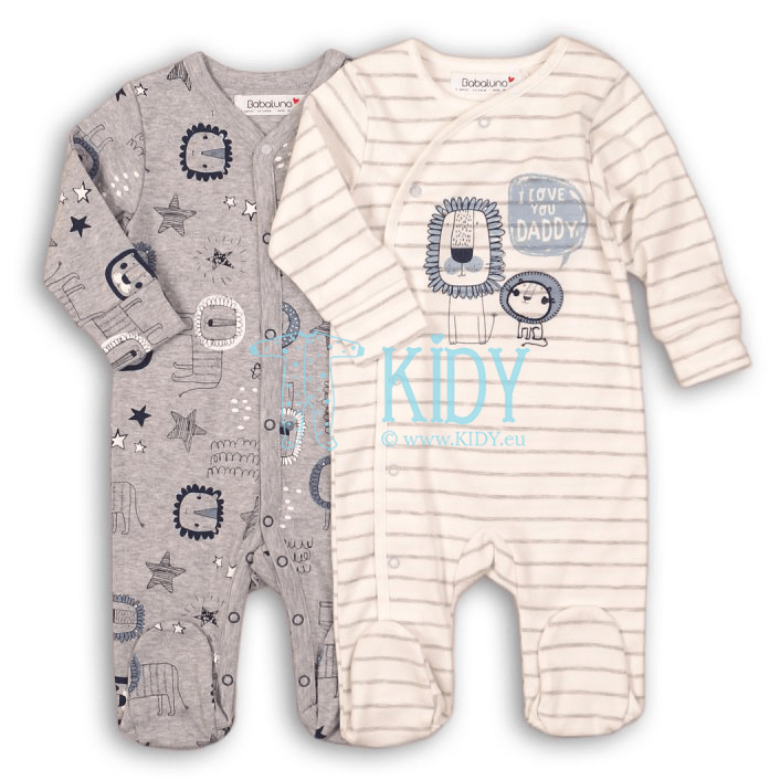 LION set: 2 sleepsuits