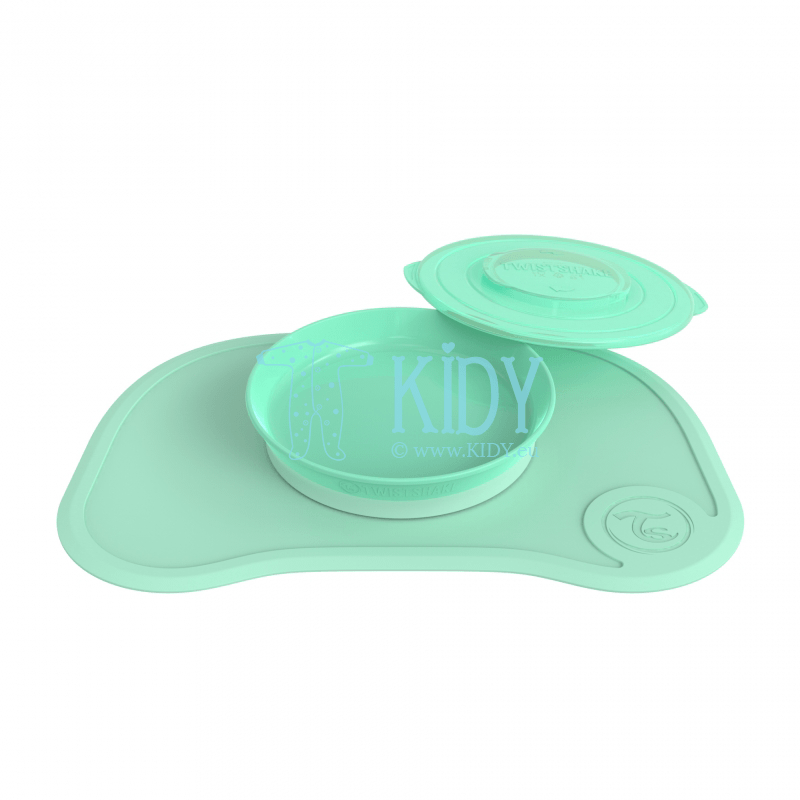 MINT GREEN plate with click mat