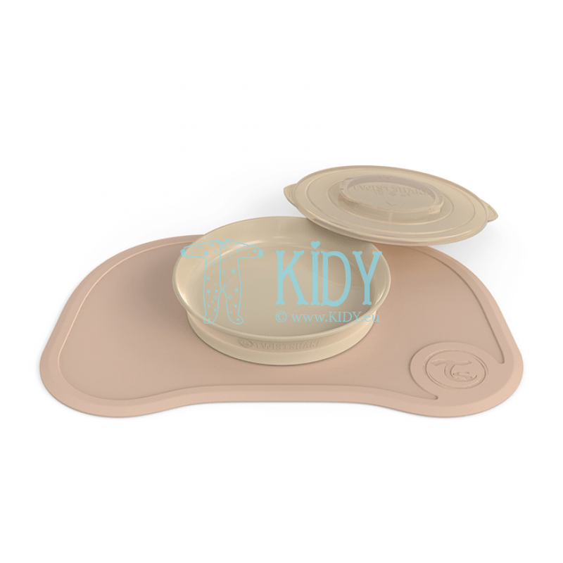 Beige plate with click mat